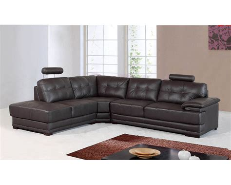 genuine leather sectional set ls