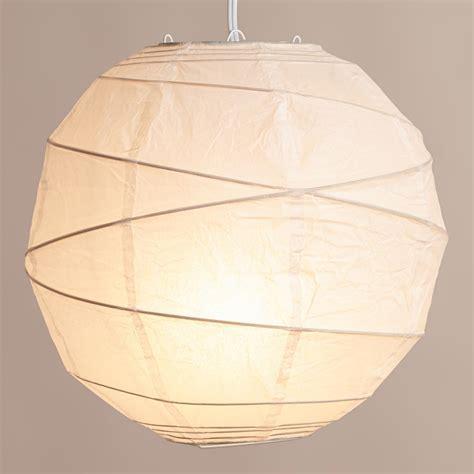 Maru Round White Paper Lantern | World Market