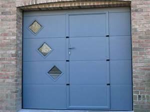 prix dune porte de garage sectionnelle avec portillon With porte de garage avec portillon prix