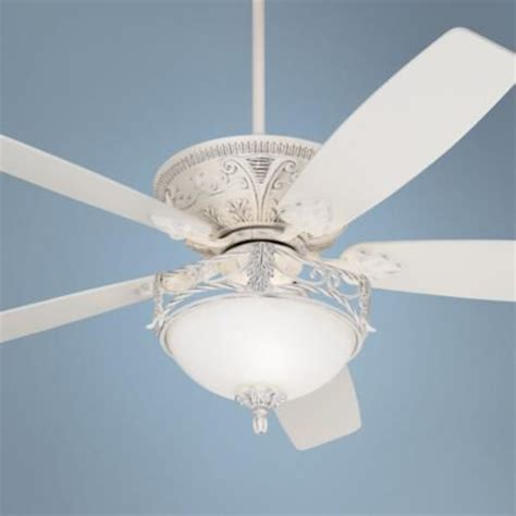 shabby chic ceiling fan light kit 60 quot casa vieja montego rubbed white ceiling fan with light