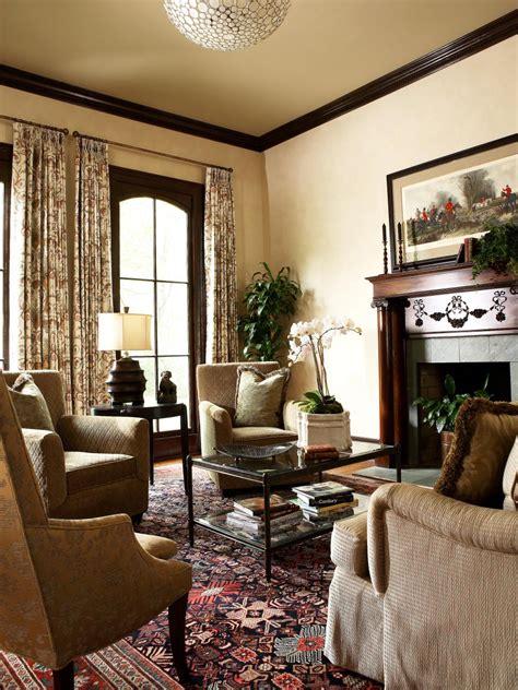 formal living room  ornate fireplace hgtv