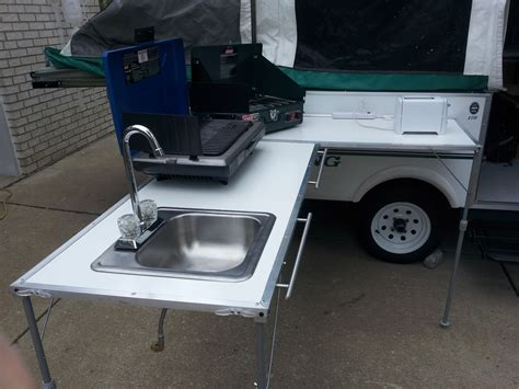 rv kitchen table parts rv dream outside kitchen for tent trailers pop ups