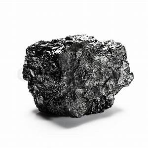 Big Piece Of Coal Isolated On White Background