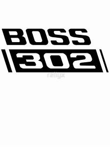 """""""1970 Ford Mustang Boss 302"""" Stickers by rallyx Redbubble"""
