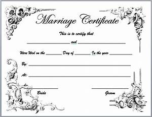 marriage certificate template microsoft word templates With wedding certificate templates free printable