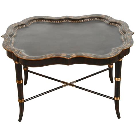 hand painted coffee table hand painted black tray coffee table by maitland smith for