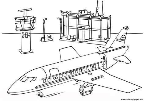 Lego Airport City Coloring Pages Printable