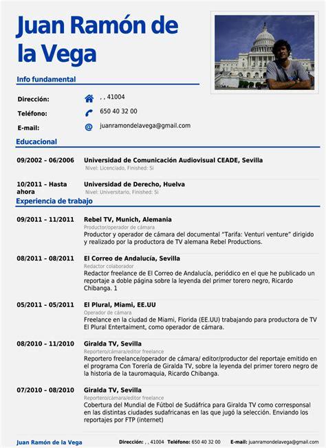 Curriculum Vitae Pdf by Curriculum Vitae Pdf Para Llenar Resume Template