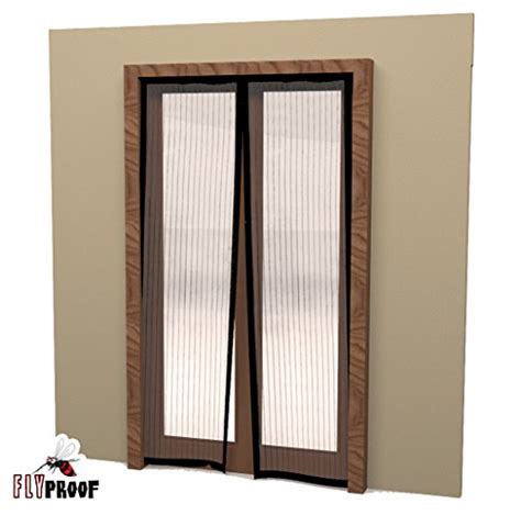 fly proof magnetic screen door mesh curtain 80 x 72 inch