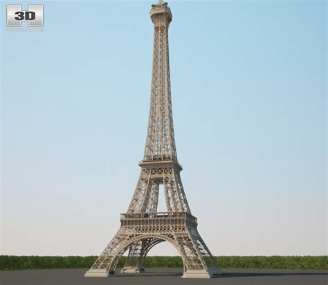 The Eiffel Tower 3d Model Hum3d
