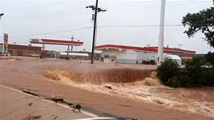 Flooding Turns Roads into Rivers in Elk City, Oklahoma ...