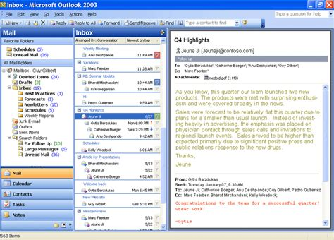 Microsoft Office Outlook by Microsoft Office Professional 2003