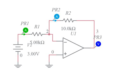 Inverting Amplifier Multisim Live