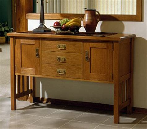 md  arts  crafts buffet woodworking plan