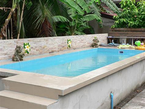 Ground Pool Decks  Modern Garden Swimming Pool
