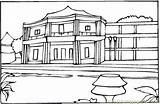 Hotel Coloring France Pages South Little Coloringpages101 Houses 424px 44kb sketch template
