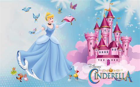 castle of princess cinderella friends jaq gus mary and