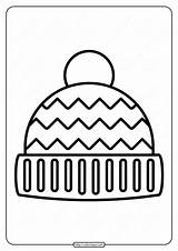 Winter Hat Coloring Printable Pdf sketch template