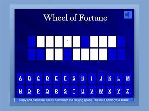 Sample jeopardy 6 documents in pdf ppt for Online wheel of fortune template