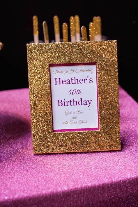 kara s ideas glamorous pink gold 40th birthday