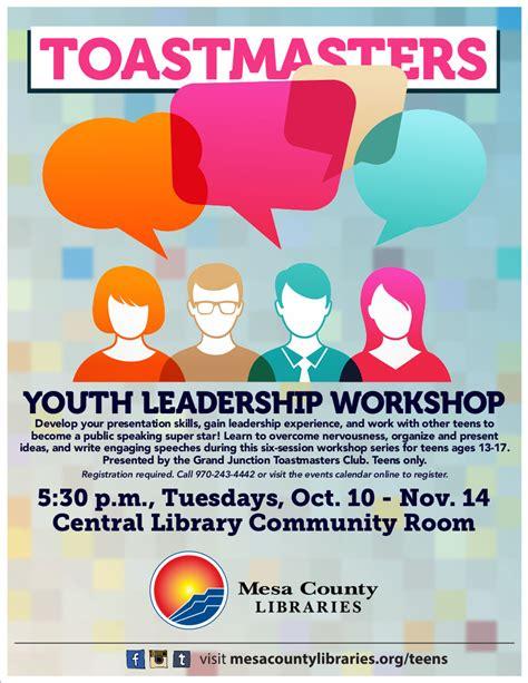 week toastmasters youth leadership workshop offered