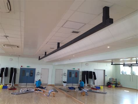 trx ceiling mount placement trx beams and boxing bag rails installed at glasgow