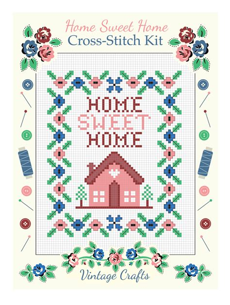 home sweet home cross stitch kit rex at dotcomgiftshop