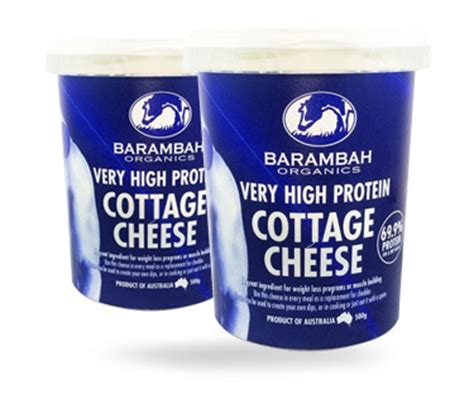 cottage cheese protein high protein cottage cheese barambah organics
