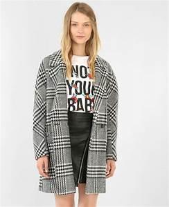 manteau a carreaux noir 280125899b39 pimkie With manteau a carreaux
