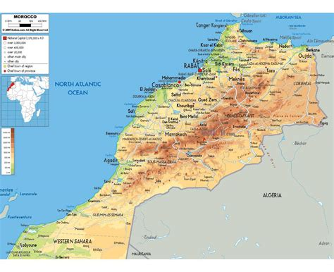 Carte Maroc Avec Villes by Maps Of Morocco Detailed Map Of Morocco In