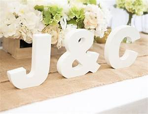 wooden letters freestanding wedding sign initial signs With personalised letters for weddings