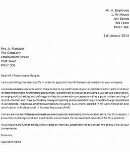 hr generalist cover letter example icoverorguk With dear human resources department cover letter