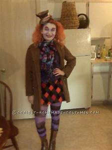Homemade Mad Hatter Costume for a Girl
