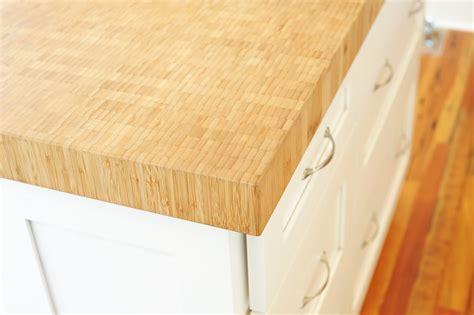 bamboo butcher block island custom bamboo wood kitchen island top in de