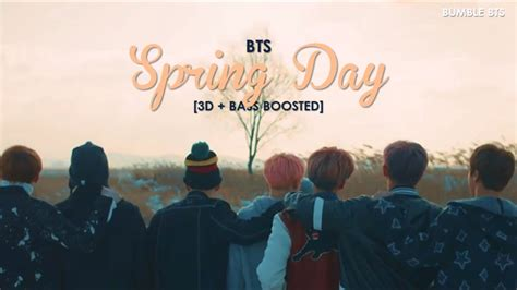 dbass boosted bts spring day bumble