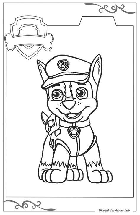 disegni da colorare paw patrol paw patrol immagini da colorare gratuiti per bambini