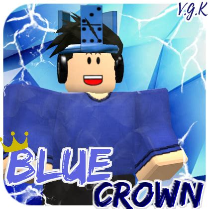 Blue Crown ROBLOX logo by videogamekeeper on DeviantArt