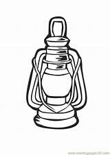 Lantern Coloring Popular Designlooter sketch template