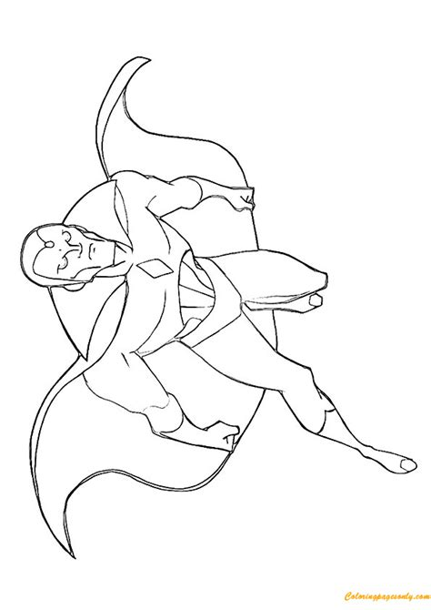 the vision from avengers coloring page free coloring