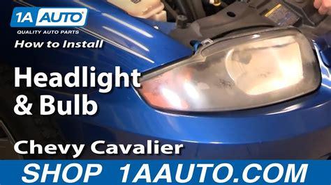 How Install Replace Headlight Bulb Chevy Cavalier