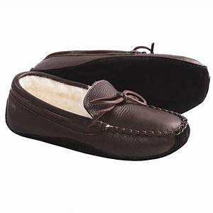 acorn bison leather slippers faux fur lining for men With letter slippers