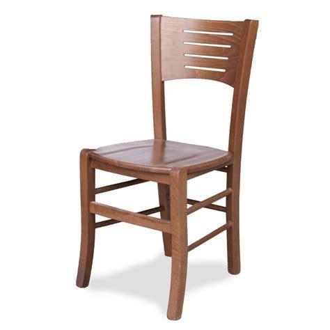 Sedia in legno con seduta in legno massello Sedie in legno