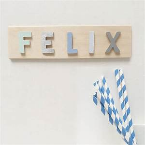 wooden letter name plaque by clara ivy With photo letter name plaques