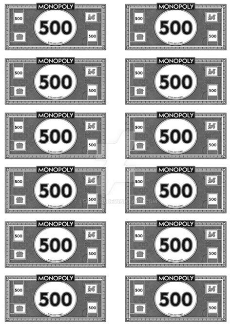 monopoly money template