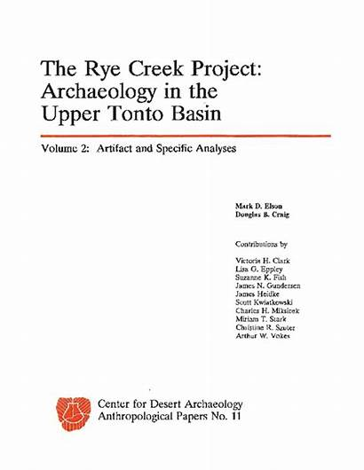 Archaeology Rye Tonto Vols Basin Creek Upper
