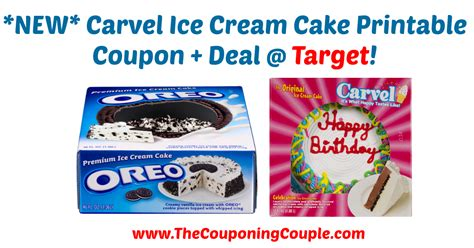 carvel ice cream cake printable coupon deal  target