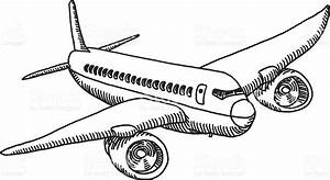 Flying Airplane Drawing Stock Vector Art & More Images of ...