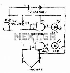 liquid sensor circuit sensors detectors circuits nextgr With plant water alarm