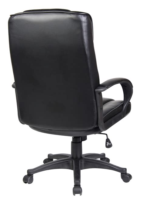 chaise mal de dos black high back swivel executive pu leather computer