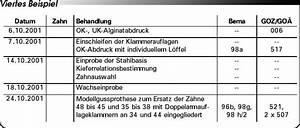 Bema Abrechnung : abrechnung nach bema und goz partielle prothesen eine ~ Themetempest.com Abrechnung
